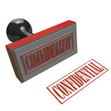 Rubber stamp with message of Confidential Royalty Free Stock Image
