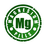 Rubber stamp with mineral Mg magnesium Royalty Free Stock Photo