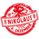 Rubber stamp with Nicholas Stock Photography
