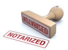 Rubber stamp-notarized Royalty Free Stock Photos