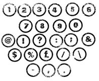 Rubber Stamp Numbers Royalty Free Stock Photo