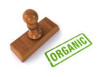 Rubber stamp organic Stock Image