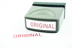 Rubber Stamp Original. Original rubber stamp isolated on white background Royalty Free Stock Image