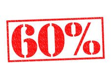 60% Rubber Stamp. Over a white background Royalty Free Stock Image