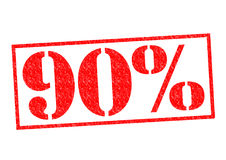 90% Rubber Stamp. Over a white background Royalty Free Stock Photos