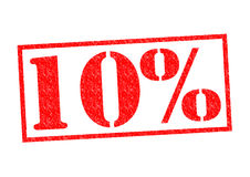 10% Rubber Stamp. Over a white background Stock Photography