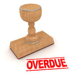 Rubber stamp - overdue Stock Image