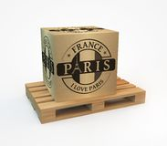 Rubber stamp with Paris Stock Photo