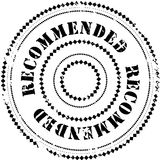 Rubber stamp: Recommended. Illustration of a grunge rubber ink stamp on white background with text: Recommended Stock Photos