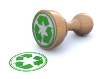 Rubber stamp-recyclable Stock Photography