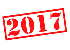 2017 Rubber Stamp. 2017 red Rubber Stamp over a white background Royalty Free Stock Image