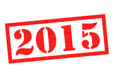 2015 Rubber Stamp. 2015 red Rubber Stamp over a white background vector illustration