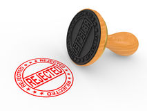 Rubber Stamp - rejected Stock Photography