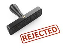 Rubber stamp - rejected. Royalty Free Stock Photography