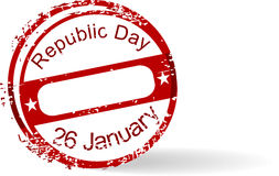 Rubber stamp of Republic Day on white background. Stock Photo