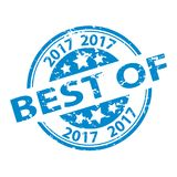 Rubber Stamp Seal - Best Of 2017. Vector Illustration - Isolated On White Background Stock Images