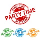 Rubber Stamp Seal - Party Time - Colorful Vector Set vector illustration