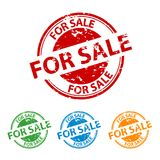 Rubber Stamp Seal - For Sale - Colorful Vector Set. Isolated On White Background Royalty Free Stock Images
