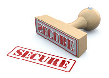 Rubber stamp-SECURE Stock Photography