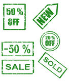 Rubber Stamp Series Stock Images