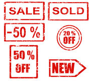 Rubber stamp series - sales Royalty Free Stock Photo