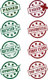 Rubber Stamp Set. A Vector Illustration of a Rubber Stamp Set Royalty Free Stock Photography