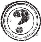 Rubber stamp shape with the symbol question mark Stock Photos