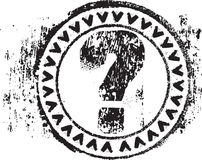 Rubber stamp shape with the symbol question mark. Abstract grunge rubber stamp shape with the symbol question mark Stock Photography