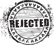 Rubber stamp shape with the word rejected stock photo