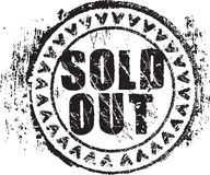 Rubber stamp shape with the words sold out. Abstract grunge rubber stamp shape with the words sold out Stock Photography