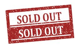 Rubber stamp Sold Out stock photo