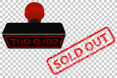 Rubber Stamp, Sold Out, at transparent effect background Royalty Free Stock Image