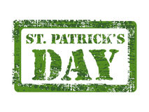 Rubber stamp for st. patrick's day. Royalty Free Stock Photography