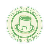Rubber stamp for St. Patricks Day celebration. Stock Photos