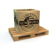 Rubber stamp with Statue of Liberty Stock Image
