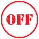 OFF rubber stamp. A rubber stamp style illustration of the word 'off Stock Image
