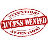 Access denied. Rubber stamp with text access denied inside,  illustration Royalty Free Stock Photography