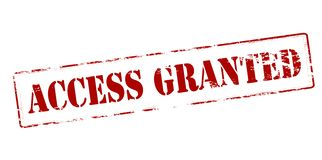 Access granted. Rubber stamp with text access granted inside,  illustration Royalty Free Stock Photography