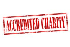 Accredited charity. Rubber stamp with text accredited charity inside,  illustration Stock Photography