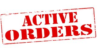 Active orders. Rubber stamp with text active orders inside,  illustration Royalty Free Stock Photography