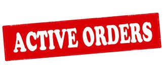 Active orders. Rubber stamp with text active orders inside,  illustration Stock Photography