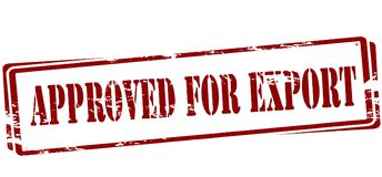 Approved for export. Rubber stamp with text approved for export inside,  illustration Royalty Free Stock Image