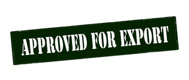 Approved for export. Rubber stamp with text approved for export inside,  illustration Stock Image