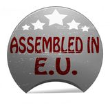 Assembled in EU. Rubber stamp with text assembled in EU inside,  illustration Stock Image