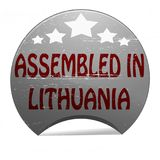 Assembled in Lithuania. Rubber stamp with text assembled in Lithuania inside,  illustration Stock Photography