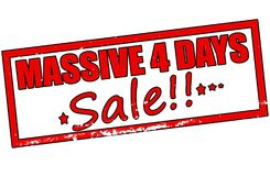 Massive four days sale. Rubber stamp with text assive four days sale inside,  illustration Stock Image