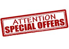 Attention special offers. Rubber stamp with text attention special offers inside,  illustration Stock Photography