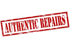 Authentic repair. Rubber stamp with text authentic repair inside,  illustration Royalty Free Stock Image