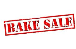 Bake sale. Rubber stamp with text bake sale inside,  illustration Stock Photos