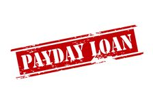 Payday loan. Rubber stamp with text be fair payday loan inside,  illustration Stock Images